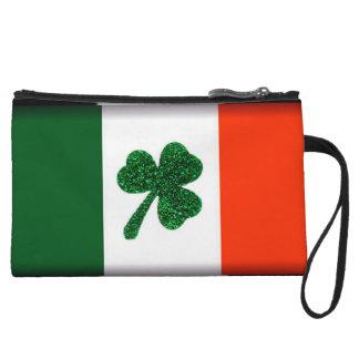 Ireland Shamrock Flag Clutch Bag Wristlet Purses