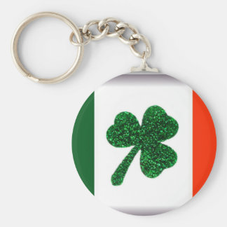 Ireland Shamrock Flag Key Chain