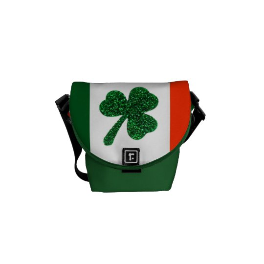 Ireland Shamrock Flag Messenger Bag