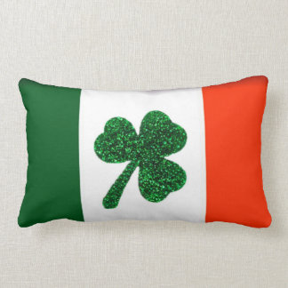Ireland Shamrock Flag Pillow