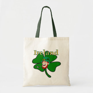 Ireland - Shamrock & Leprechaun Canvas Bags