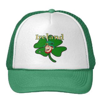 Ireland - Shamrock & Leprechaun Trucker Hat