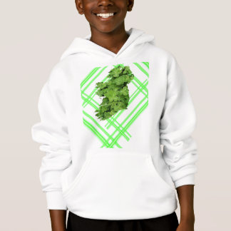 Ireland Shamrock Stripes by Kenneth Yoncich Hoodie