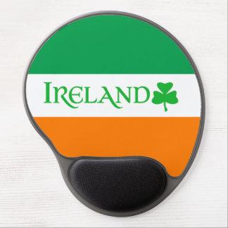Ireland Shamrock Symbol on Irish Flag Colors Gel Mouse Mat