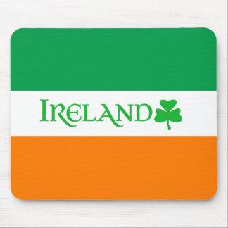 Ireland Shamrock Symbol on Irish Flag Colors Mousepads