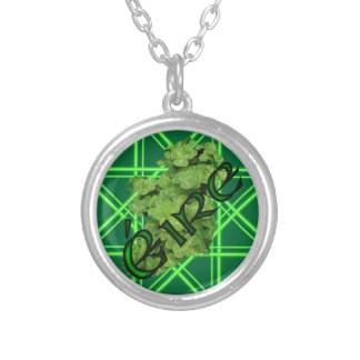 Ireland Shamrock v2 by Kenneth Yoncich Silver Plated Necklace