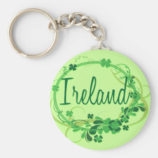 Ireland Shamrocks Keychain