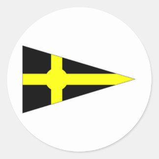 Ireland Skerries Sailing Club Ensign Classic Round Sticker