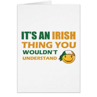 Ireland Smiley Designs Greeting Cards