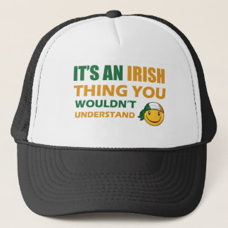 Ireland Smiley Designs Trucker Hat