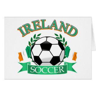 Ireland soccer ball designs card