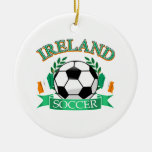 Ireland soccer ball designs ceramic ornament