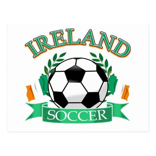 Ireland soccer ball designs postcard