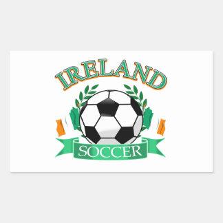 Ireland soccer ball designs rectangular sticker