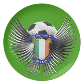Ireland Soccer Champions Party Plates