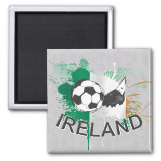 Ireland soccer Football and soccer cleat 2 Inch Square Magnet
