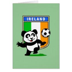 Greeting Card with Ireland Football Panda design