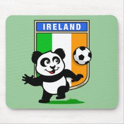 Mousepad with Ireland Football Panda design