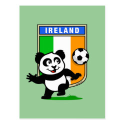 Ireland Football Panda Postcard