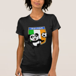 Women's American Apparel Fine Jersey Short Sleeve T-Shirt with Ireland Football Panda design