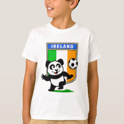 Kids' Hanes TAGLESS® T-Shirt with Ireland Football Panda design