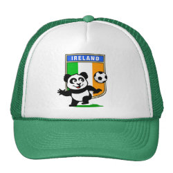 Trucker Hat with Ireland Football Panda design