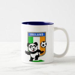 Two-Tone Mug with Ireland Football Panda design