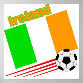 Ireland Soccer Team Poster
