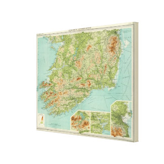 Ireland southern section canvas print