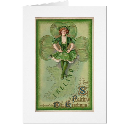 Ireland St Patrick's Day Greetings - Vintage Card