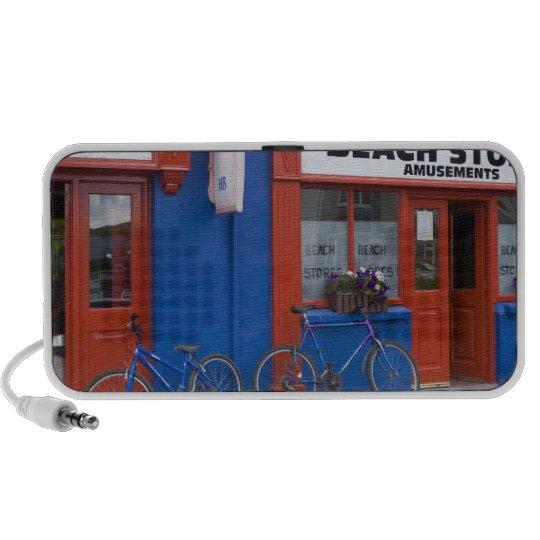Ireland, Strandhill. Storefronts with bicycles Mini Speaker