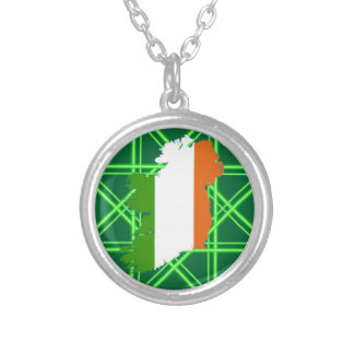 Ireland Stripes by Kenneth Yoncich Silver Plated Necklace