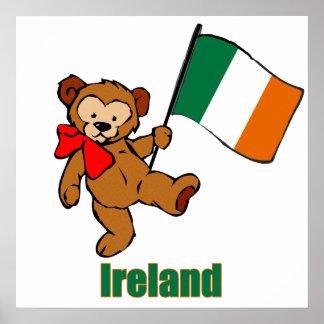 Ireland Teddy Bear Poster