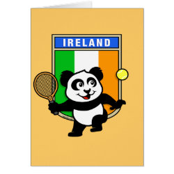 Greeting Card with Irish Tennis Panda design