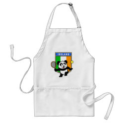 Apron with Irish Tennis Panda design