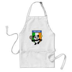 Apron with Irish Tennis Panda design
