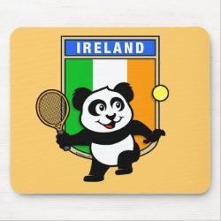 Mousepad with Irish Tennis Panda design