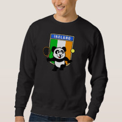 Men's Basic Sweatshirt with Irish Tennis Panda design
