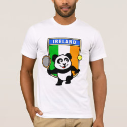 Men's Basic American Apparel T-Shirt with Irish Tennis Panda design