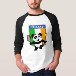 Men's Basic 3/4 Sleeve Raglan T-Shirt with Irish Tennis Panda design