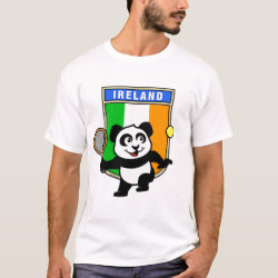 Men's Basic T-Shirt with Irish Tennis Panda design