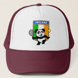 Trucker Hat with Irish Tennis Panda design