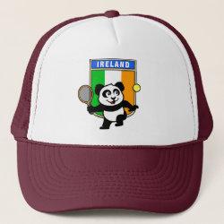 Trucker Hat with Irish Tennis Panda design