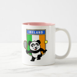 Two-Tone Mug with Irish Tennis Panda design