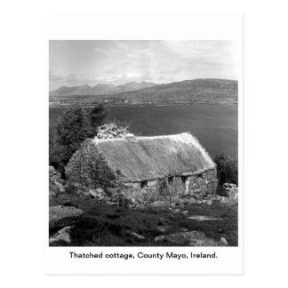 Ireland Thatched cottage, County Mayo Postcard