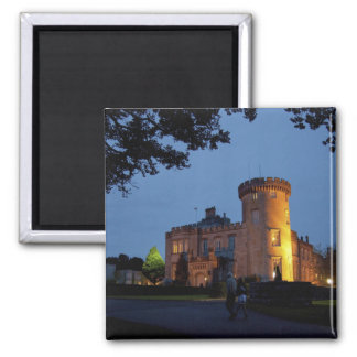Ireland, the Dromoland Castle lit at dusk, Refrigerator Magnets