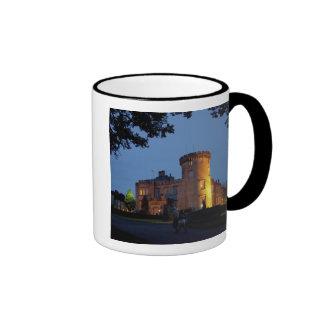 Ireland, the Dromoland Castle lit at dusk, Mug