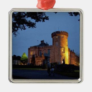 Ireland, the Dromoland Castle lit at dusk, Christmas Tree Ornament
