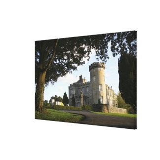 Ireland, the Dromoland Castle side entrance. Canvas Print