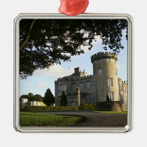 Ireland, the Dromoland Castle side entrance. Square Metal Christmas Ornament